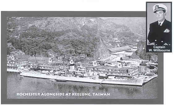 Upon arriving at Keelung early in March, ROCHESTER took aboard the Admiral in command of the Fleet and his staff, so that upon putting to sea several days later it was as 7th Fleet flagship.