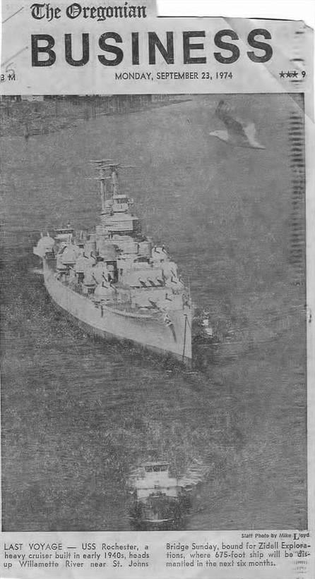 USS ROCHESTER Dismantling
