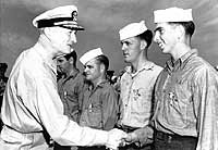 While at Inchon, Admiral Doyle, the amphibious group commander, came aboard to decorate four sailors with the SILVER STAR, for their heroic actions, while they were Cox'ns during the Inchon invasion.