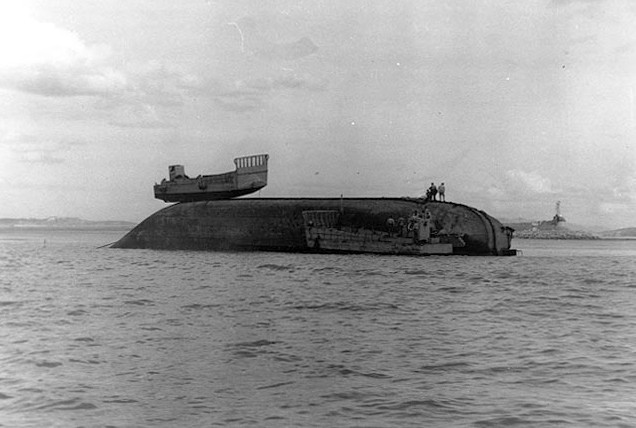 Many books written about this invasion show pictures of several landing ships being high and dry - L.S.T. 789 and a LCM left atop a sunken L.S.T. It was reported that the tide at Inchon was about seventeen feet. When the tide moved out the mud flats moved out a thousand yards.